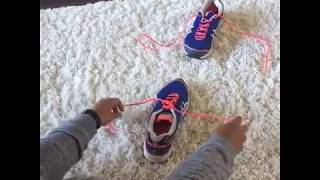 The EASIEST way to tie shoes