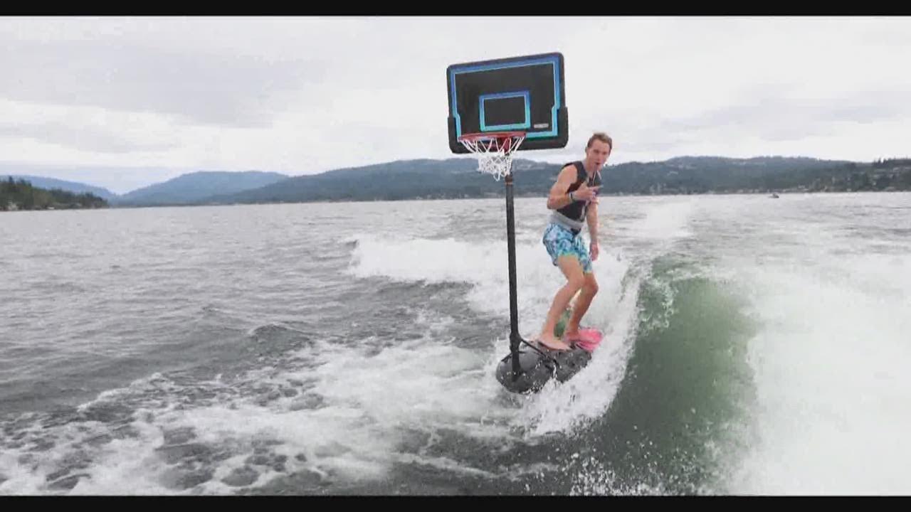 Swish! Washington friends film basketball tricks on Lake Sammamish