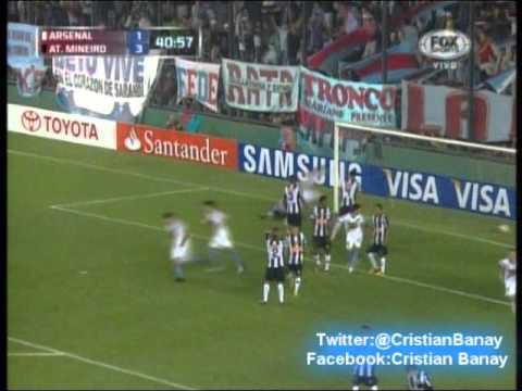 Arsenal 2 Atletico Mineiro 5 Copa Libertadores 2013 Los goles (26/2/2013)