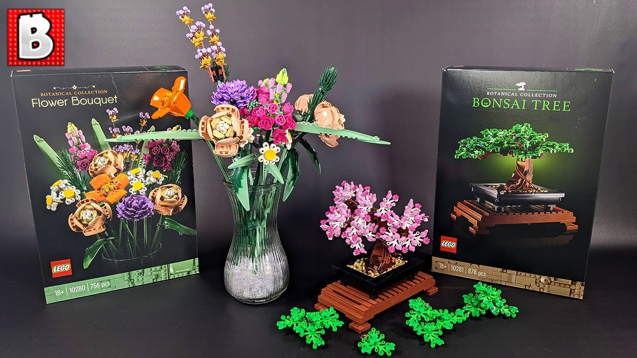 Lego Flower Bouquet And Bonsai Tree Botanical Collection Full Review Youtube