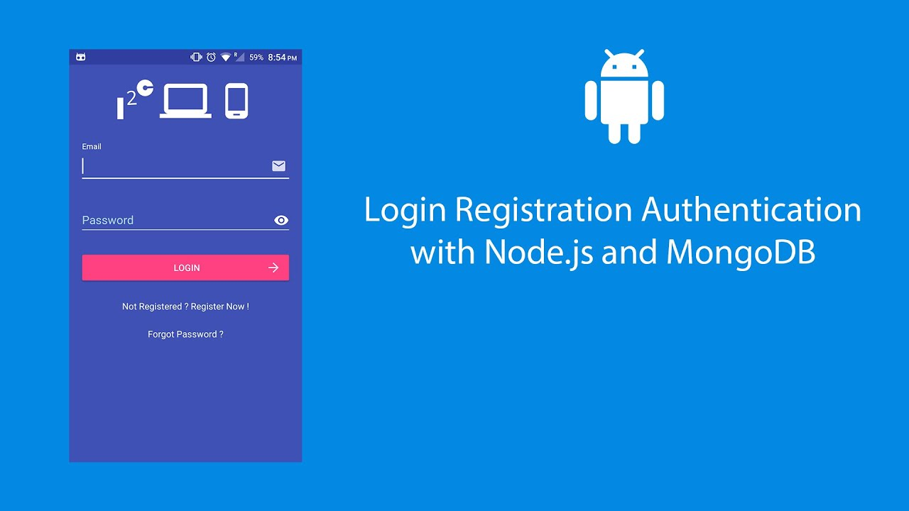Android User Registration and Login with Node js and MongoDB