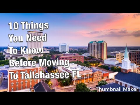 10 Things You Need To Know Before Moving To Tallahassee FL|| State Capital Part#1