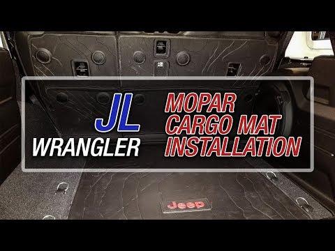 Jeep Wrangler JL Mopar Cargo Liner - Leather Trim