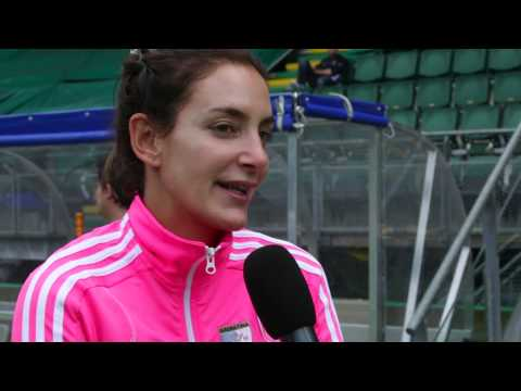 Luciana Aymar about the GreenFields TX Hockey Pitch
