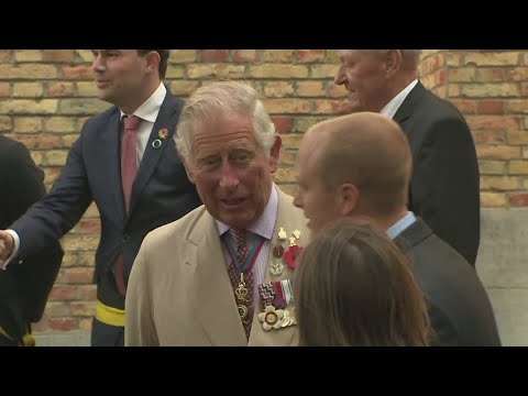 Prince Charles opens WWI church dugout