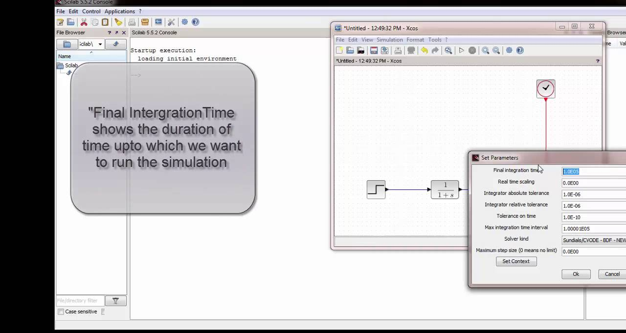 Scilab Xcos tutorial for beginners