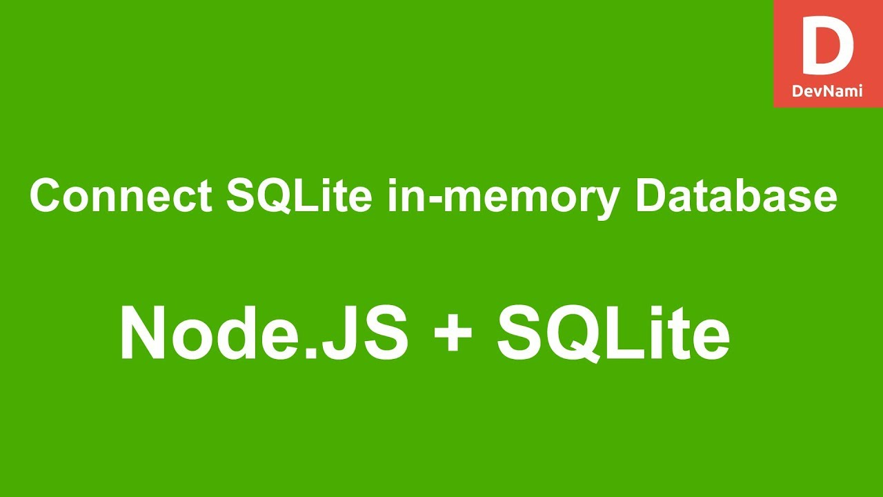 Node.JS How to Connect SQLite in-memory Database