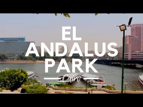 El Andalus Park, Cairo, Egypt - The Greenery View Walk Along the Nile River in El Zamalek Island