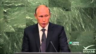Putin At The UN (FULL SPEECH); United Nations; 9-28-2015
