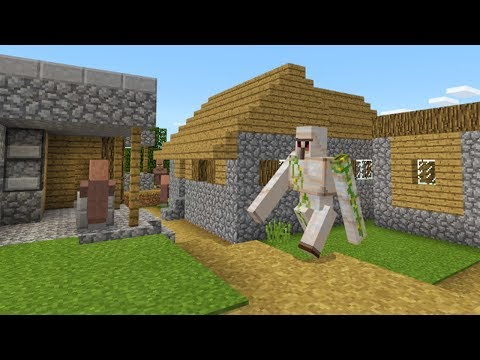HUGE VILLAGE SEED!!! - BIG VILLAGE w/ END PORTAL & IRON GOLEM! - Minecraft Pocket Edition