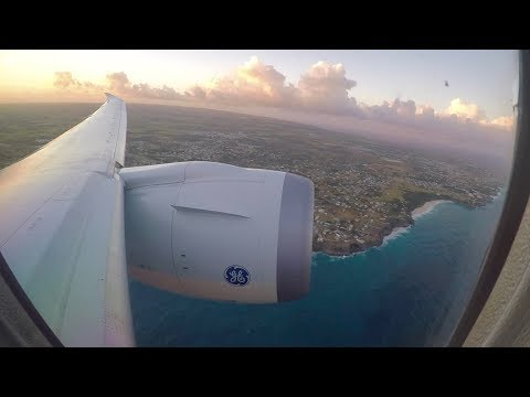 Thomson B787-8 Dreamliner Stunning Sunset Takeoff from Bridgetown Barbados