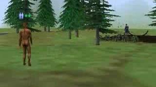 Sims 2 Bon Voyage BIG FOOT!