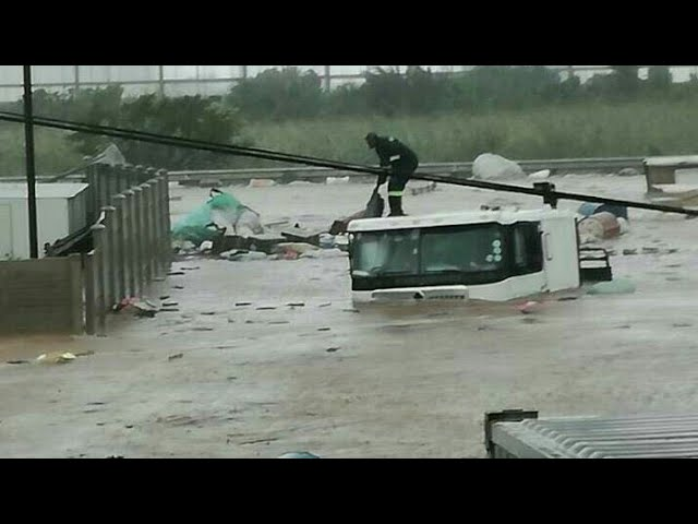 Storm hits Durban hard 10th October 2017 flash floods roads washed away