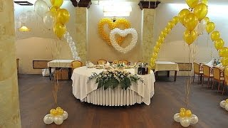 варианты украшения зала на свадьбу шарами Алматы
