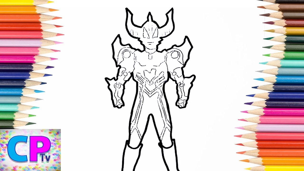 Ultraman Magnificent Coloring Pages How To Color Ultraman