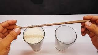 How to use chopsticks to lift a cup of rice   cách dùng đũa để nâng ly gạo