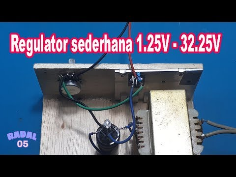Cara Membuat Regulator 1,25V - 32,25V  Simple LM317 Project Catu Daya Ide Kreatif DIY