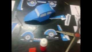 RAB TUNING TEAM Egyptian car designer origami (Volkswagen bettels70's) 3Dcar papercraft tutorial