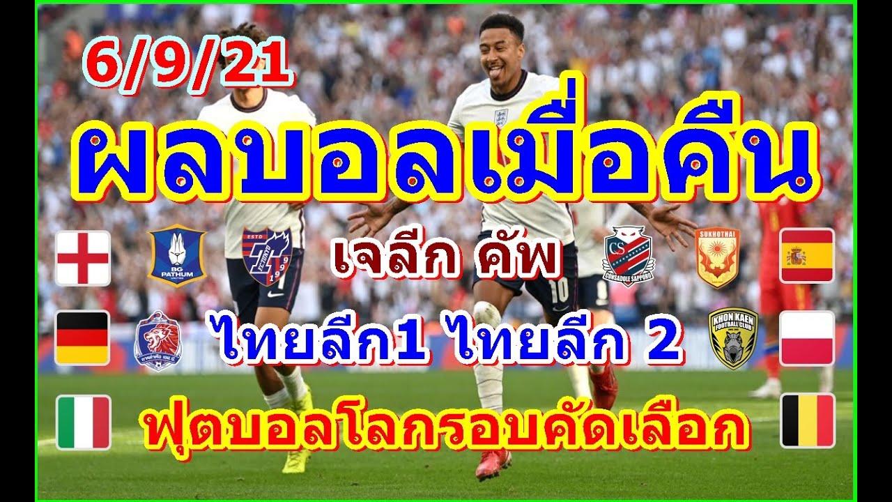 ผลบอลเมื่อคืน/ฟุตบอลโลกรอบคัดเลือกโซนยุโรป/ไฮลักซ์รีโว่ไทยลีกT1-T2/เจลีกคัพ/ตารางคะแนน/5/9/21    เว็บไซต์นำเสนอ ข่าวสารเกี่ยวกับกีฬา - POPASIA - เนื้อเพลง, คอร์ดเพลงใหม่ๆ    #1 ประเทศไทย