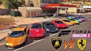 Forza Horizon 3 - Racha Só De Lamborghini VS Ferrari - GoPro ‹ ZoiooGamer ›