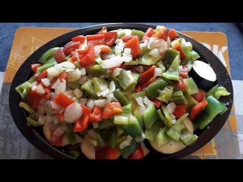gratin-pomme-de-terre,-aubergines,-poivrons,-tomates,-oignon