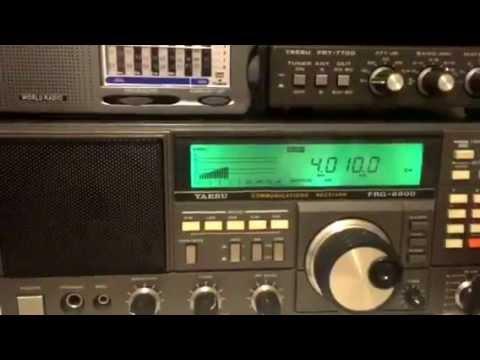 4010 KHz KYRGYZ Radio 1 Bishkek, Kyrgzstan received in Oxford, UK