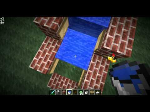 видео: Водный эскалатор в Minecraft