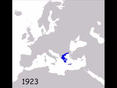 The Greek States on the map of Europe