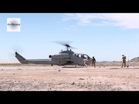 U.S. Marines AH-1 Cobra - Landing And Refuel