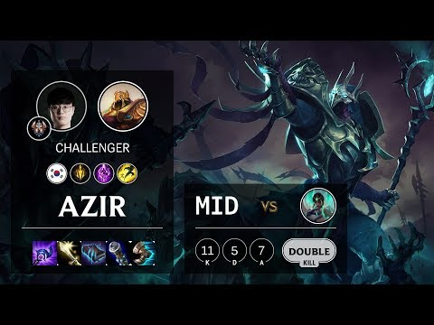 Azir Mid vs Karma - KR Challenger Patch 10.7