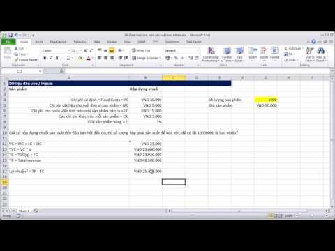 Học Excel Cơ Bản #88 Goal Seek - Tính toán số lượng sản phẩm để được lãi