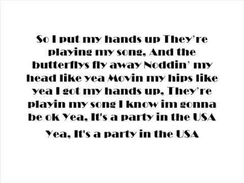 Party i the usa lyrics