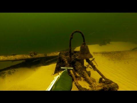 Подводная охота. Затонувшие корабли.