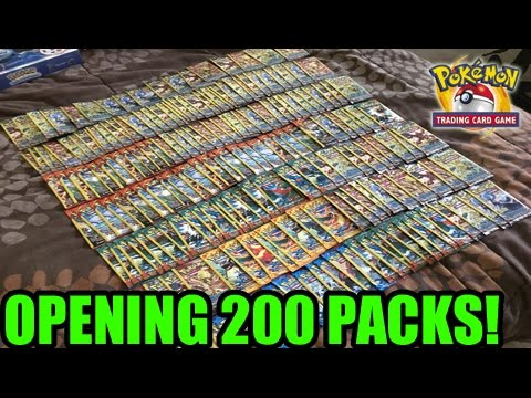 OPENING 200 POKEMON CARD BOOSTER PACKS FROM DOLLAR TREE!