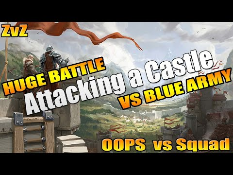 Albion Online ZvZ - Attacking A Castle - OOPS Vs SQUAD - Territory Fight!