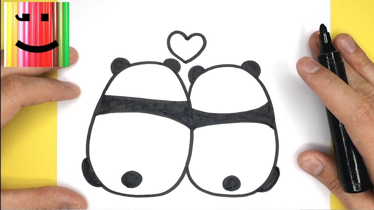 Astuce De Dessin Facile Viens Apprendre A Dessiner Deux Pandas Amoureux Tutodessin Youtube