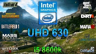 Intel Graphics UHD 630 Test in 10 Games (i5 8600k)