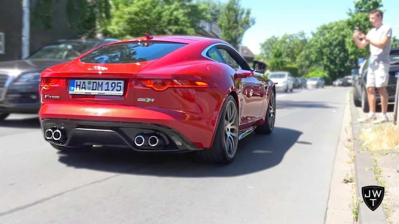 Jaguar F-Type V6 S, V8 R & SVR Exhaust SOUNDS! LOUD Accelerations!