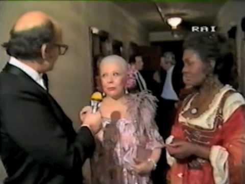 La Scala 1984 - Abbado - Carmen(4/4) - interview - curtain calls