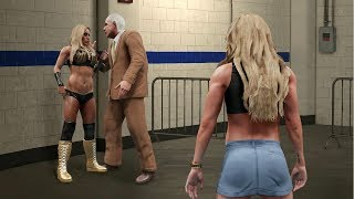 RIC FLAIR BETRAYS HIS OWN DAUGHTER FOR MANDY ROSE! | WWE 2K19 Universe Mods