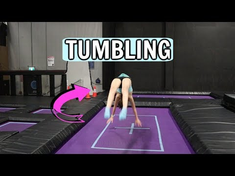 Trampoline park tumbling and gymnastics!