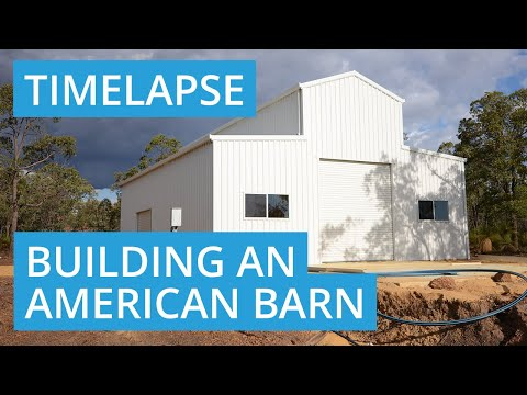 American Barn Construction Timelapse
