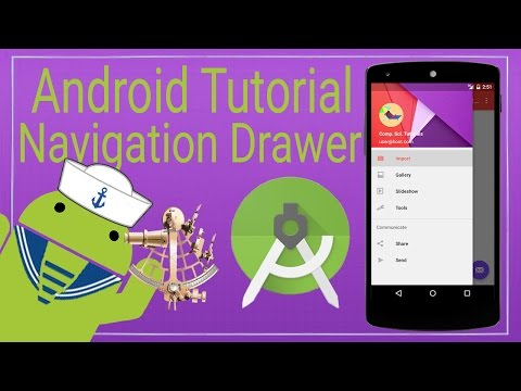 Android Tutorial 9 - The Navigation Drawer