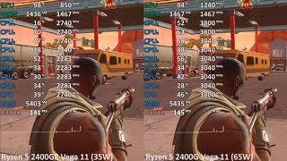 Ryzen 5 2400GE vs. Ryzen 5 2400G in 9 Games. Gaming Benchmark Test Comparison