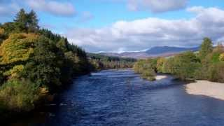 Autumn River Tummel From Ballinluig Bridge Perthshire Scotland October 15th