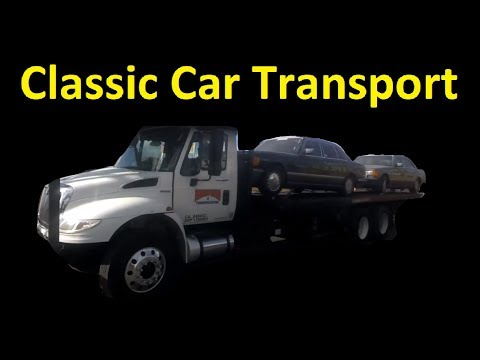 Classic Car Transport Automobile Shipping Work Vlog Towing Truck Tow