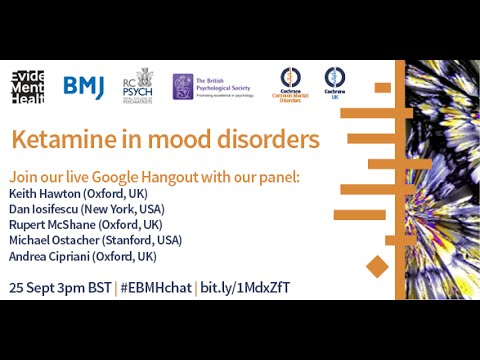 Ketamine in mood disorders