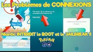LA SOLUTION aux Problèmes de connexions Pokémon Go FR JOUER en étant ROOT ou Jailbreak