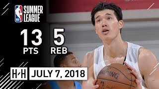 Yuta Watanabe Full Highlights vs Thunder (2018.07.07) Summer League - 13 Pts, 5 Reb