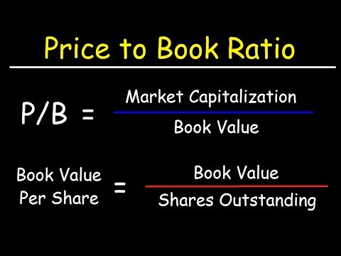 How To Calculate The Book Value Per Share & Price To Book (P/B) Ratio Using Market Capitalization
